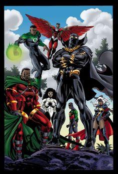 Black Anime Characters, Comic Book Characters, Comic Book Heroes, Marvel Characters, Comic Character, Comic Books Art, Comic Art, Black Avengers, Avengers Comics