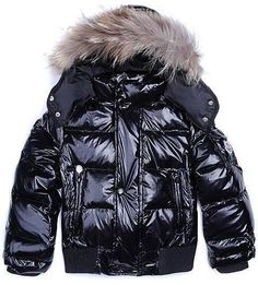 Moncler Kids Jacket Boy Black