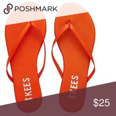 TKees Leather / Solids- Life Saver (Bright Orange) TKees Shoes Sandals