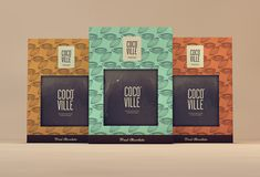 Nice coloured packaging for Cocoville – Handmade fine chocolates by Isabela Rodrigues