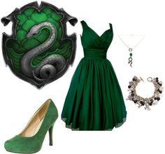 Image result for slytherin prom dress