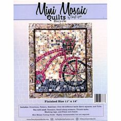 Mini Mosaic Quilts Bicycle Pattern - Cheryl Lynch - Oyvey Quilt Designs LLC