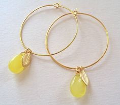 jade gold hoop earrings by a box for my treasure | notonthehighstreet.com