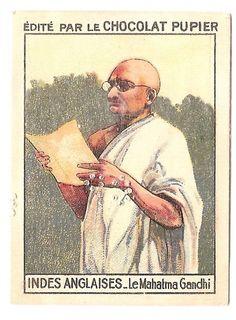 Le Mahatma Gandhi - Indes Anglaises - Image Chocolat Pupier (1938/39)