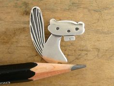 The Cutest Beaver Necklace Ever Sterling Silver Beaver by marmar