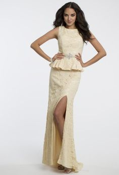 Sleeveless Lace Peplum Top with Appliques from Camille La Vie and Group USA