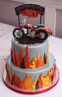 Badass Fondant Motorcycle Cake | by Whipped Bakeshop