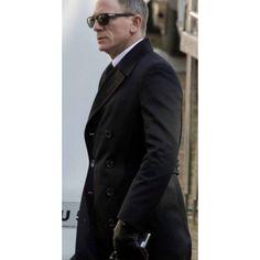 Spectre James Bond Bridge Coat For Men James Bond Outfits, Leather Jackets For Sale, Black Jackets, Men's Leather Jacket, Leather Coats, Black Leather, Daniel Graig, Daniel Craig James Bond, Stylish Coat
