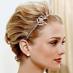 cute wedding updo for short hair - Wedding Ideas, Wedding Trends, and Wedding Galleries