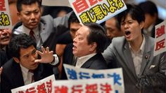 Protests as Japan paves the way for self-defence law change