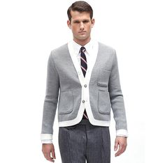 Eaton Knit Jacket: Awesome wool knit jacket by Thom Browne/Brooks Brothers