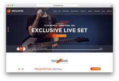 Oscillator WordPress Musicians Theme