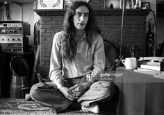 Ken Hensley of Uriah Heep is interviewed at home for Record Mirror, 1975.