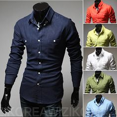 Solid Color Slim Fit Men Plaid Casual Shirt . Shop Now At http://sneakoutfitters.com/collections/new-in/products/solid-color-slim-fit-men-plaid-casual-shirt