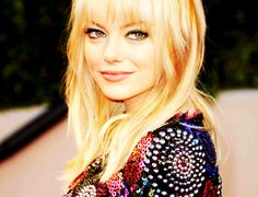Emma Stone rocking my look. Like her sweater though.