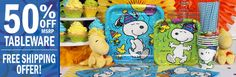 Snoopy Party Supplies at Birthday Direct.com