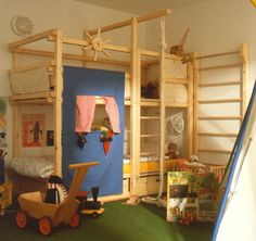 indoor play play sets and bunk bed on pinterest. Black Bedroom Furniture Sets. Home Design Ideas