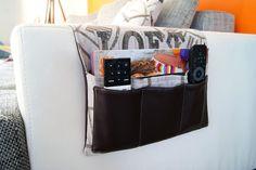 Tuto couture gratuit pour réaliser une pochette à télécommande pour le canapé. Une idée de rangement originale et pratique.