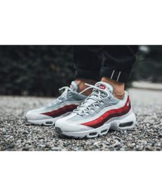 best cheap 16a42 86ace Nike Air Max 95 Ultra Essential Grey White Red Trainers Air Max 95 White,  Cheap
