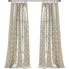 Found it at Joss & Main - Trellis Rod Pocket Curtain Panel