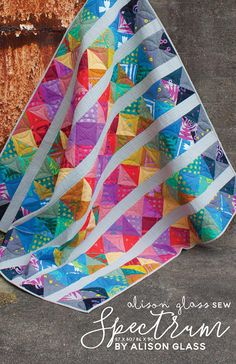 """Spectrum Quilt Pattern AG-104 Alison Glass and Nydia Kehnle 57"""" x 60"""" or 84"""" x 90"""""""