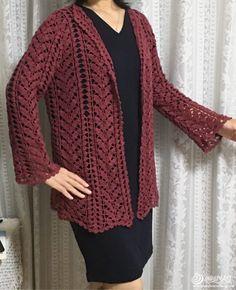 Crochet # Ribbon # Cardigan # Making # 6 – crochet pattern Knitting Blogs, Lace Knitting, Cute Crochet, Crochet Top, Crochet Patterns For Beginners, Crochet Videos, Lace Patterns, Crochet Cardigan, Crochet Clothes