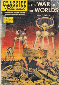 H G Wells War of the Worlds Comic Book by Classics Illustrated January 1955