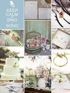 The love bird wedding theme fly away with me bird themed love bird wedding inspiration thats why were doing junglespirit Choice Image
