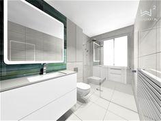 Projekt nowoczesnej łazienki Alcove, Bathroom Lighting, Bathtub, Mirror, Furniture, Home Decor, Bathroom Light Fittings, Standing Bath, Bathroom Vanity Lighting