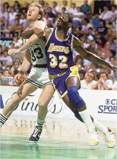 Larry Bird and Magic Johnson biggest rivalry in basketball, but became best friends.