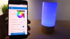 Node-RED Xiaomi Mijia Bedside Lamp | Random Nerd Tutorials #homeautomation #nodered #raspberrypi  #diyelectronics Diy Electronics, Electronics Projects, Home Automation Project, Open Source Hardware, Color Picker, Bedside Lamp, Lava Lamp, Nerd, Table Lamp