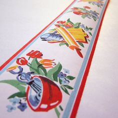 Vintage Wall Paper Border  Kitchen Utensil and by moxiephotodesign, $3.75