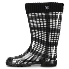 Oakland Raiders Women's Rain Boots by For Bare Feet. $34.99