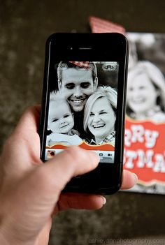What to do with all your holiday photo cards?  Make them people's contact photos!