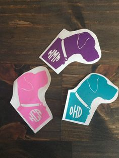 Custom Monogrammed Dog Decal