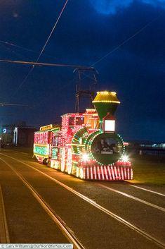 The illuminated Train, Blackpool Illuminations, Lancashire, England, UK Blackpool Beach, Blackpool Pleasure Beach, Great Days Out, The Good Old Days, Blackpool England, Durham Museum, Caribbean Cruise, Royal Caribbean, British Seaside