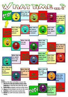 Resultado de imagen para free printable board games to learn english