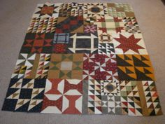 Linda J.'s Free Online Quilt Sampler is Finished!!
