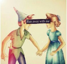 I love Peter Pan and Wendy's relationship! He needed a girl to knock some sense into him and she needed someone to show her that growing up could be a good thing!