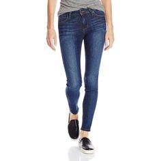 Joe's Jeans Women's Icon Japanese Denim Mid Rise Skinny Ankle Jean In... ($185) ❤ liked on Polyvore featuring jeans, joe's jeans, blue jeans, skinny ankle jeans, blue denim jeans e mid-rise jeans