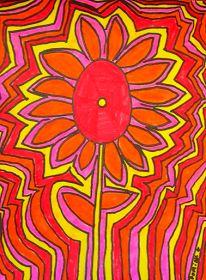 TeachKidsArt: Echo Line Flowers