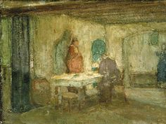And He Disappeared out of Their Sight / Y desapareció de su vista (Cena en Emaús)// ca. 1898 // Henry Ossawa Tanner // Smithsonian American Art Museum // Jesus Christ: Emmaus