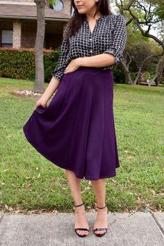 Midi Skirts - Purple