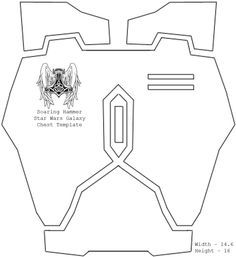 This is a template to cut out your own Boba Fett Armor