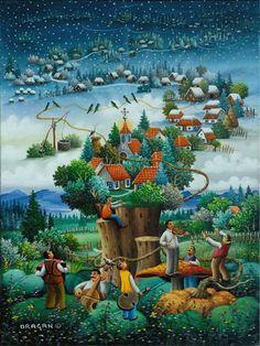 Il mondo di Mary Antony: L'arte Naif di Dragan Mihailović