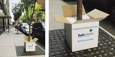 These FedEx/Kinko's display merchandising/installations are the silver winners of London International Awards.  FedEx/Kinko's Shipping - Trees