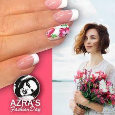 """Azra's Fashion Day: Blumige Zeiten! Nailart """"blooming flower"""""""