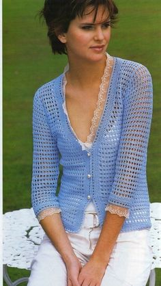 ergahandmade: Crochet Cardigan + Free Pattern + Diagrams