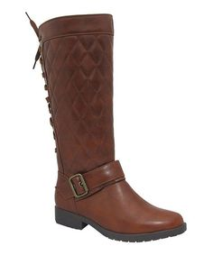 Another great find on #zulily! Rust Quilted Back-Lace Graham Boot #zulilyfinds