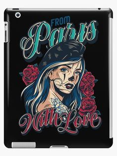 From Paris with Love • Millions of unique designs by independent artists. Find your thing. Paris Girl, Paris Love, Paris Poster, Poster On, Vintage Paris, French Vintage, Cat Skull, Girl Posters, Love Stickers